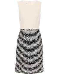 Oscar de la Renta - Wool And Cotton-blend Shift Dress - Lyst