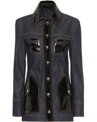 Ellery - Vinyl-embellished Denim Jacket - Lyst