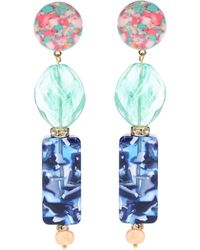 Lele Sadoughi - Stacked Stone Earrings - Lyst