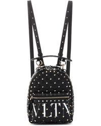 Valentino - Vltn Rockstud Spike Mini Leather Backpack - Lyst