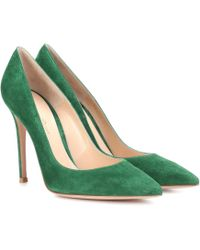 Gianvito Rossi - Gianvito 105 Suede Court Shoes - Lyst