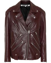 McQ - Leather Motorcycle Jacket - Lyst