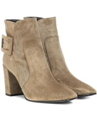 Roger Vivier - Stivaletti Polly in suede - Lyst