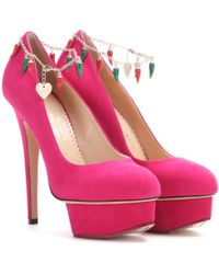 Charlotte Olympia - Hot Dolly Suede Pumps - Lyst