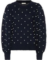 Ulla Johnson - Adalene Polka-dot Cotton Sweater - Lyst