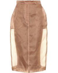 Max Mara - Humour Silk Organza Pencil Skirt - Lyst