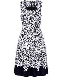 Oscar de la Renta - Printed Cotton Dress - Lyst