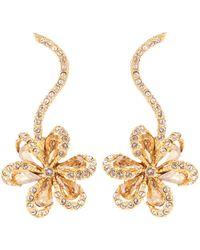 Oscar de la Renta - Embellished Floral Earrings - Lyst