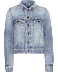 Saint Laurent - Love Denim Jacket - Lyst