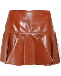 Chloé - Leather Miniskirt - Lyst