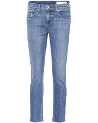 Rag & Bone - Ankle Dre Cropped Jeans - Lyst