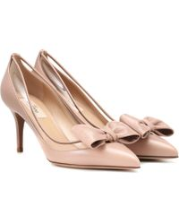 9fa66ae4877 Lyst - Valentino Dollybow Velvet   Pvc Pumps in Blue