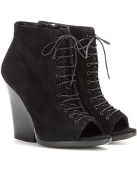 Burberry - Virginia Suede Ankle Boots - Lyst