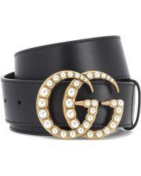4cd7e3489 Gucci - Embellished Leather Belt - Lyst