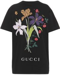 e6210e694 Gucci - Printed Cotton T-shirt - Lyst