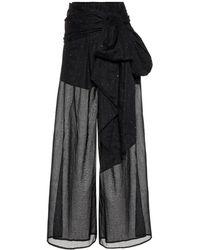 Alexandre Vauthier - Pantalon ample en coton à ornements - Lyst