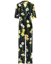 Dolce & Gabbana - Jumpsuit a stampa floreale in seta - Lyst