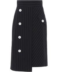 Dorothee Schumacher - Cool Classic Striped Wool Skirt - Lyst