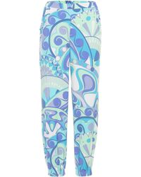 Emilio Pucci - Printed Jersey Trackpants - Lyst