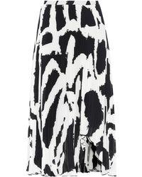 Proenza Schouler - Printed Plissé Midi Skirt - Lyst