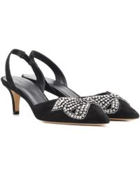 Isabel Marant Suede Pagda Pumps in . t8XKT