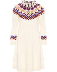 Loewe - Wool And Alpaca-blend Jumper Dress - Lyst