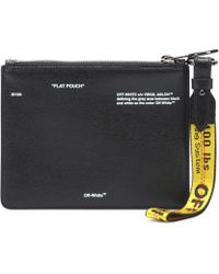 Off-White c/o Virgil Abloh - Diagdouble Flap Leather Pouch - Lyst
