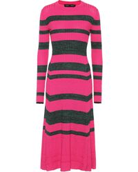 Proenza Schouler - Striped Wool-blend Dress - Lyst