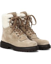 Moncler - Patty Suede Ankle Boots - Lyst