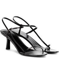 The Row Bare 65 Black Leather Sandals