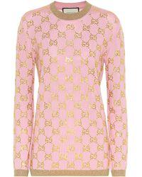 Gucci - Verzierter Pullover aus Wolle - Lyst
