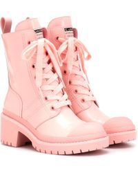 2ba401e01d3 Lyst - Marc Jacobs Bristol Laced Up Boots in White