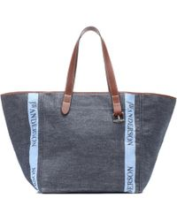 JW Anderson - Denim And Leather Tote - Lyst