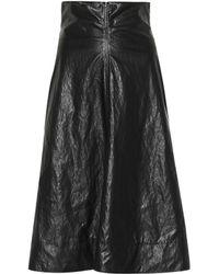 Philosophy Di Lorenzo Serafini - Faux Leather Skirt - Lyst