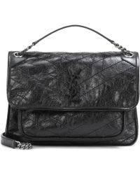 6bbe160e9d62 Saint Laurent - Medium Niki Monogram Leather Shoulder Bag - Lyst