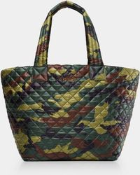 MZ Wallace - Quilted Green Camo Medium Metro Tote - Lyst