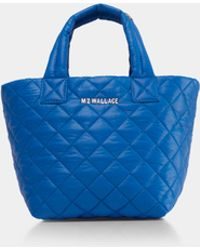 MZ Wallace - Quilted Tahiti Blue Micro Metro Tote - Lyst