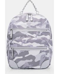 MZ Wallace - Light Grey Camo Tribeca Backpack - Lyst