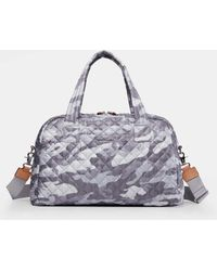 MZ Wallace Quilted Light Grey Camo Jimmy Travel