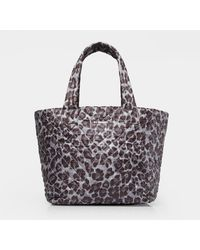 MZ Wallace Quilted Magnet Leopard Medium Metro Tote - Gray