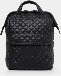 MZ Wallace - Quilted Black Top Handle Backpack - Lyst