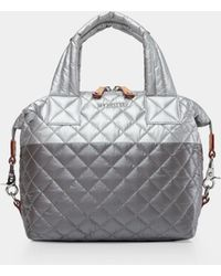 MZ Wallace - Quilted Tin/steel Metallic Small Sutton - Lyst