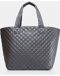MZ Wallace - Quilted Steel Metallic Large Metro Tote - Lyst