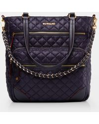 MZ Wallace - Quilted Boysenberry Crosby Tote - Lyst