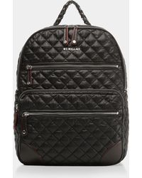 MZ Wallace - Quilted Black Crosby Backpack - Lyst