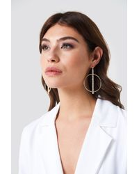 NA-KD - Sparkling Bar Hoop Earrings - Lyst