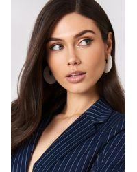 NA-KD - Open Hoop Resin Earrings - Lyst