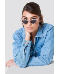 NA-KD - Glittery Cat Eye Sunglasses Light Pink - Lyst
