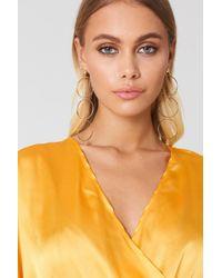 NA-KD - Big Ring Chain Earrings - Lyst