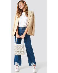 Mango - Vintage Ripped Jeans Open Blue - Lyst